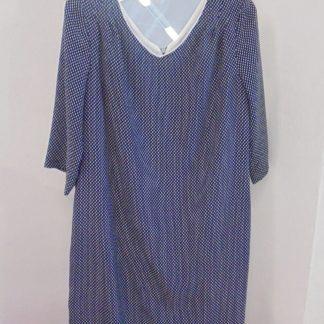 f82bf22e2348 You re viewing  Modré bodkované šaty €42.00